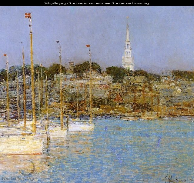 Cat Boats, Newport - Frederick Childe Hassam