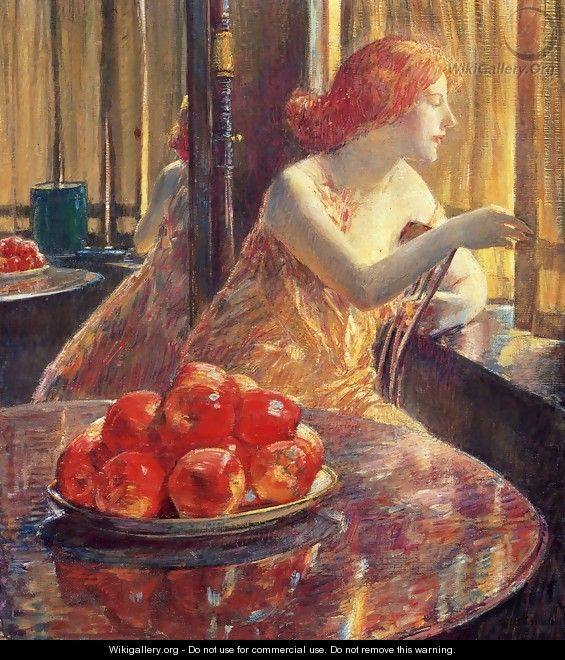 Reflections (Kitty Hughes) - Frederick Childe Hassam