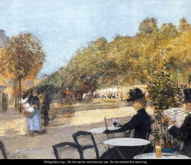 At the Cafe - Frederick Childe Hassam