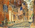 Acorn Street, Boston - Frederick Childe Hassam