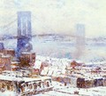 Brooklyn Bridge in Winter - Frederick Childe Hassam