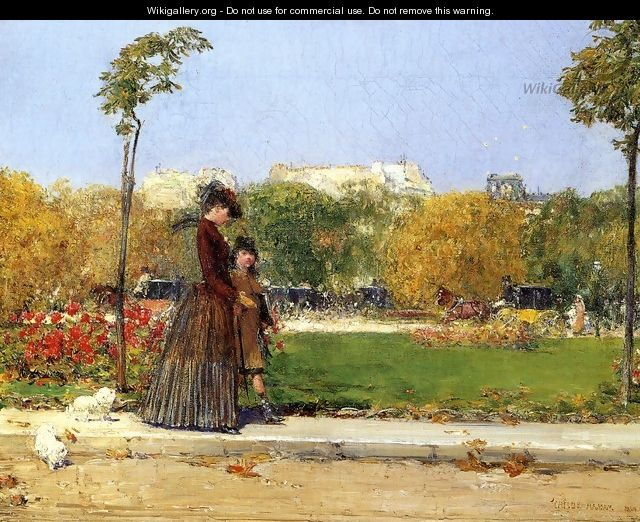 In the Park, Paris - Frederick Childe Hassam