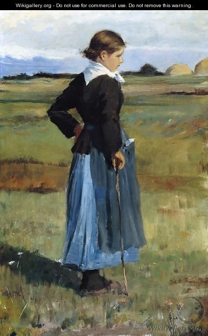 French Peasant Girl - Frederick Childe Hassam