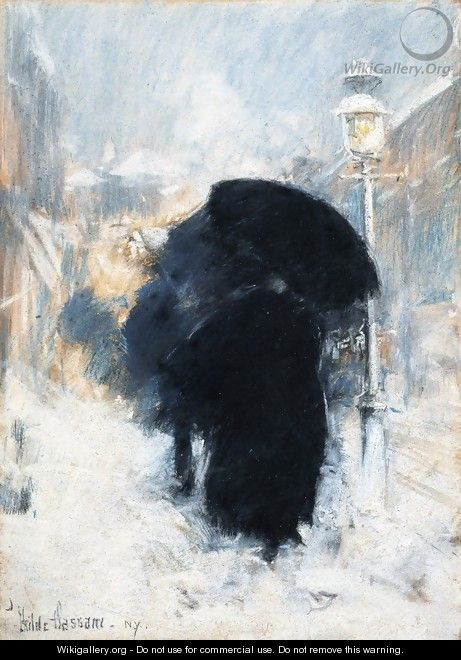 A New York Blizzard - Frederick Childe Hassam