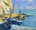 Boats at Etretat - Theodore Butler