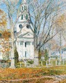Church at Old Lyme II - Frederick Childe Hassam