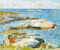Bathing Pool, Appledore - Frederick Childe Hassam