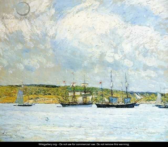 A Parade of Boats - Frederick Childe Hassam
