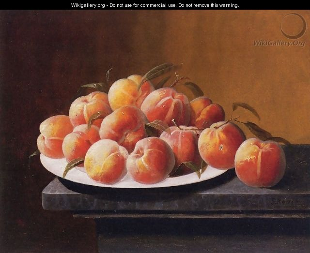Peaches with Dew in a Bowl - Severin Roesen