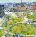 Union Square in Spring - Frederick Childe Hassam