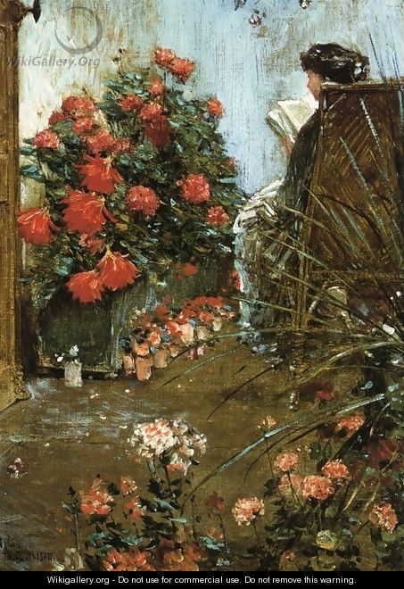 In the Garden at Villers-le-Bel - Frederick Childe Hassam