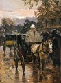 Hackney Carriage, Rue Bonaparte - Frederick Childe Hassam