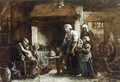 A Party for Grandfather - Jules (Adolphe Aime Louis) Breton