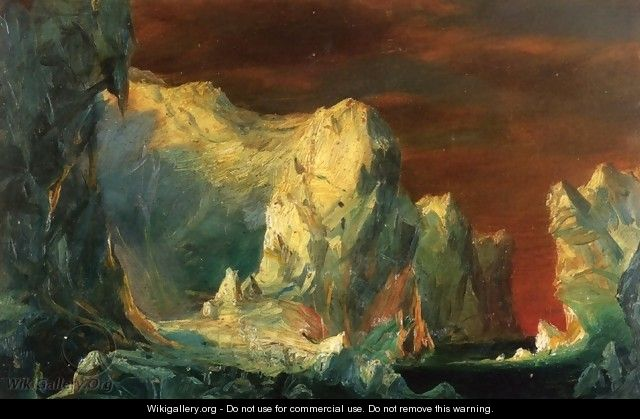 "Study for ""The Icebergs"" - Frederic Edwin Church"