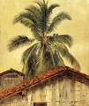 Palm Trees and Housetops, Ecuador - Frederic Edwin Church