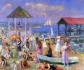 Beach Scene, New London - William Glackens