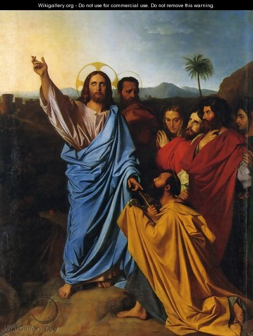 Christ Giving Peter the Keys of Paradise - Jean Auguste Dominique Ingres