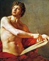 Academic Study of a Male Torse - Jean Auguste Dominique Ingres