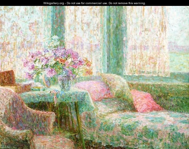 Table with Flowers - Jenny Montigny