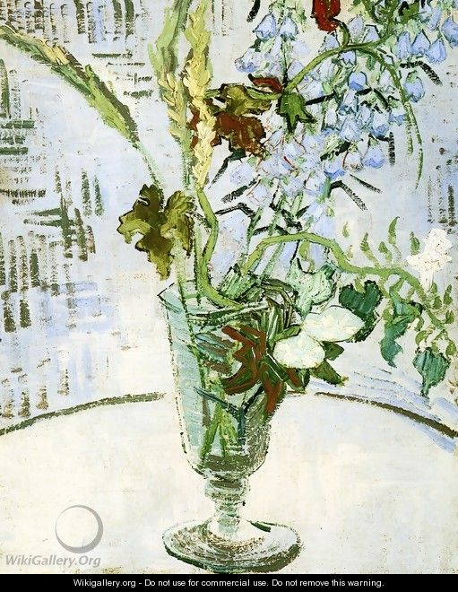 Flowers In A Vase Vincent Van Gogh Wikigallery Org