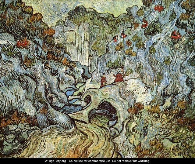 A Path through a Ravine - Vincent Van Gogh