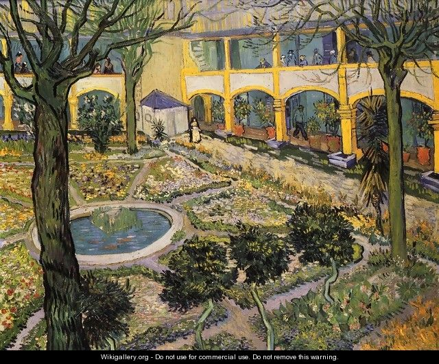 Courtyard of the Hospital in Arles - Vincent Van Gogh