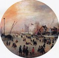 Winter Landscape with Skaters I - Hendrick Avercamp