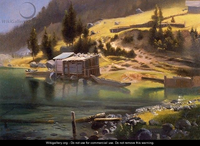 Fishing and Hunting Camp, Loring, Alaska - Albert Bierstadt