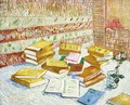 "Still Life with Books, ""Romans Parisiens"" - Vincent Van Gogh"