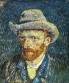 Self Portrait with Felt Hat - Vincent Van Gogh