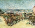 Vegetable Gardens in Montmartre I - Vincent Van Gogh