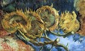 Still Life with Four Sunflowers - Vincent Van Gogh