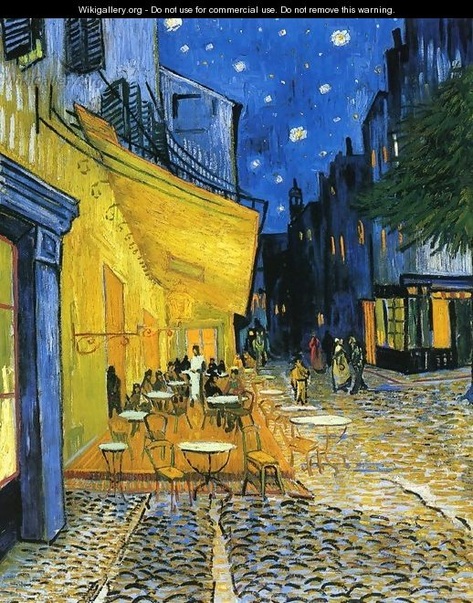Cafe Terrace on the Place du Forum - Vincent Van Gogh