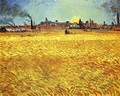 Summer Evening, Wheatfield with Setting sun - Vincent Van Gogh
