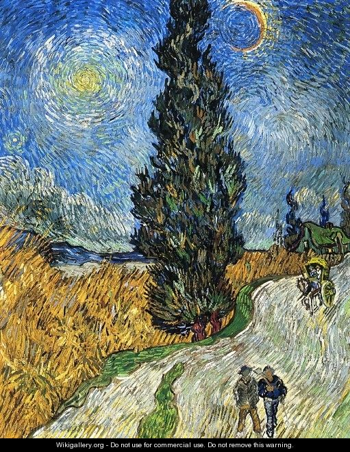 Cypress against a Starry Sky - Vincent Van Gogh