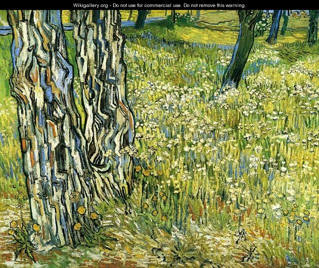 Tree Trunks in the Grass - Vincent Van Gogh
