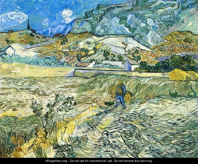 Enclosed Field with Peasant - Vincent Van Gogh