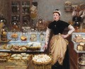 The Cheese Vendor I - Edouard-Jean Dambourgez