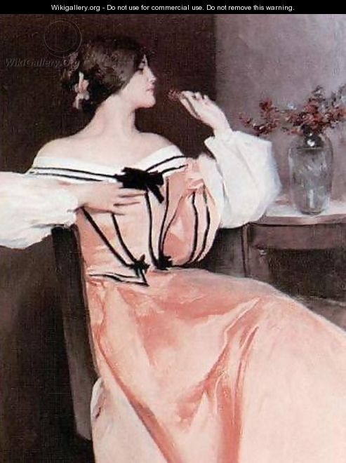 Lady in a Pink Dress - John White Alexander