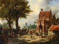 Festivities outside the Inn - Jacques Carabain