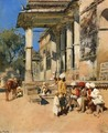 Portico of a Mosque, Ahmedabad - Edwin Lord Weeks