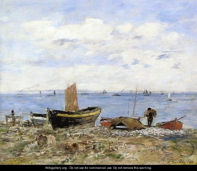 Shore at Sainte-Adresse, Low Tide - Eugène Boudin