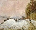 Quai Saint Bernard in the Snow - Armand Guillaumin