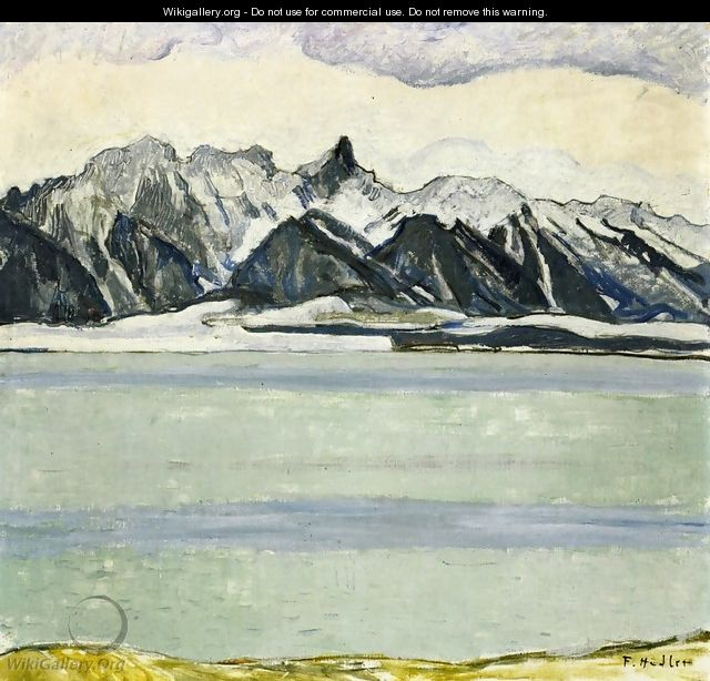 Thumersee with Stockhornkette in Winter - Ferdinand Hodler