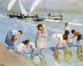 Children on the Beach - Ernesto Valls Sanmartin