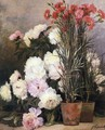 Peonies and Red Carnations - Jean Capeinick
