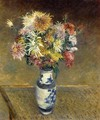 Chrysanthemums in a Vase - Gustave Caillebotte