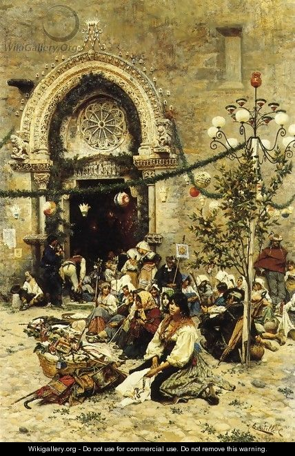 A Rest from the Festival - Cesare Tiratelli