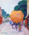The Entrance to Asnieres, the Haywagon - Emile Bernard
