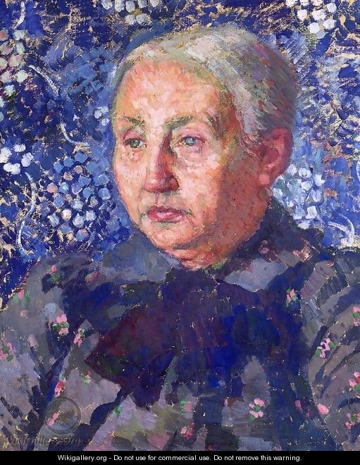 Portrait of Madame Monnon, the Artist's Mother-in-Law - Theo van Rysselberghe